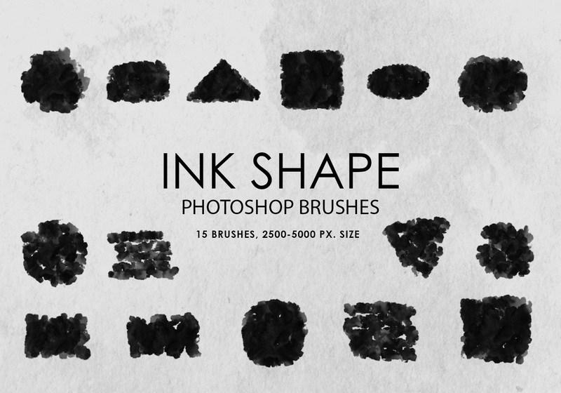 Free Ink Shapes Photoshop Brushes Photoshop brush
