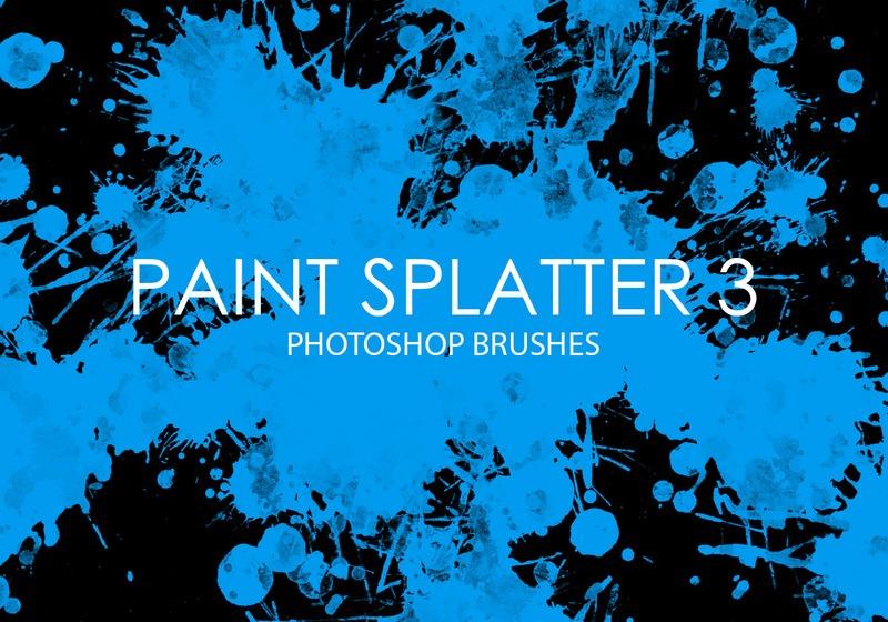 Free Paint Splatter Photoshop Brushes 3 Photoshop brush