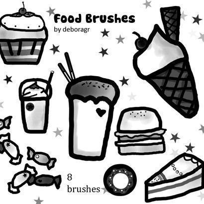 Food Brushes Photoshop brush