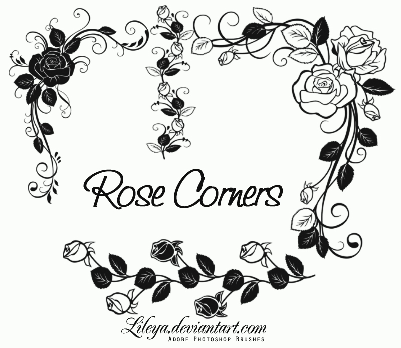 Rose Corners Photoshop brush