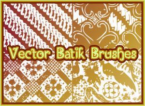 Vector Batik Photoshop brush