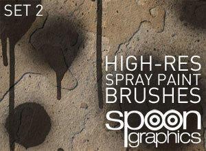 Hi-Res Spraypaint Photoshop Brushes - Set Two Photoshop brush