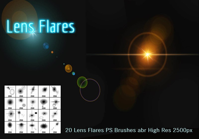 Lens Flares PS Brushes Photoshop brush