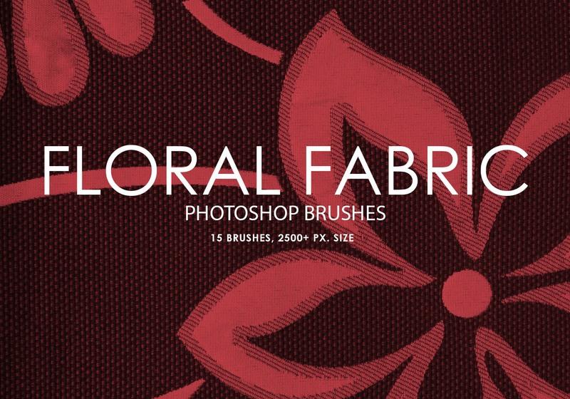 Free Floral Fabric Photoshop Brushes Photoshop brush