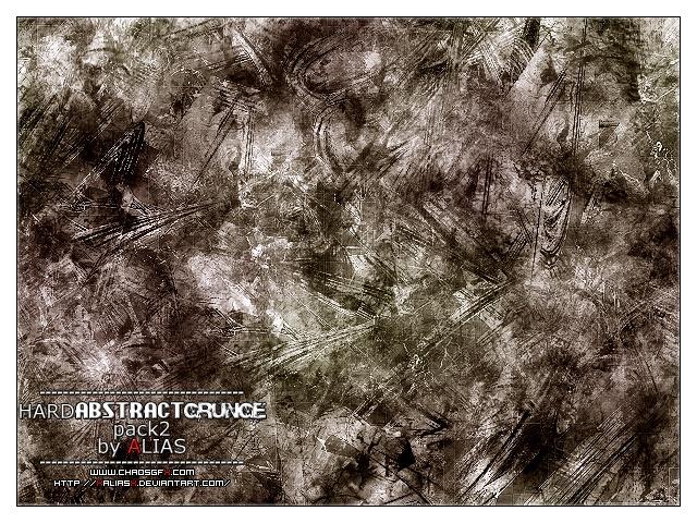 Hard Abstract Grunge Pack 2 Photoshop brush