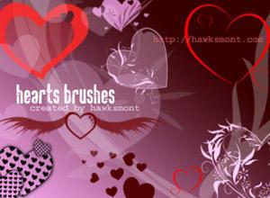 Hearts by hawksmont Photoshop brush