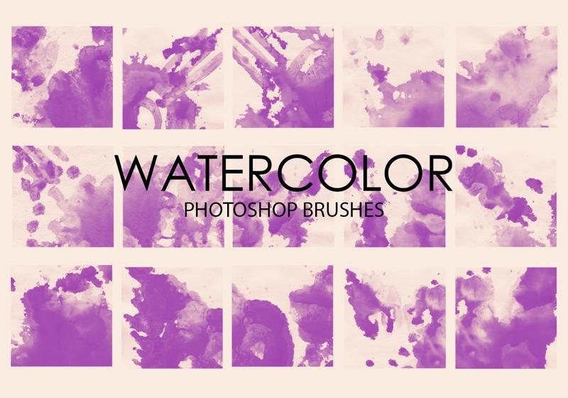 Free Watercolor Wash Photoshop Brushes 2 Photoshop brush