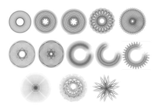 Spirograph Brushes Set 1 Photoshop brush