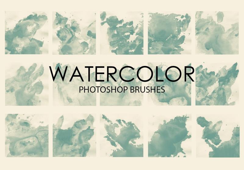 Free Watercolor Wash Photoshop Brushes 5 Photoshop brush