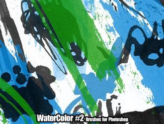WaterColor Brushes Set 2 Photoshop brush