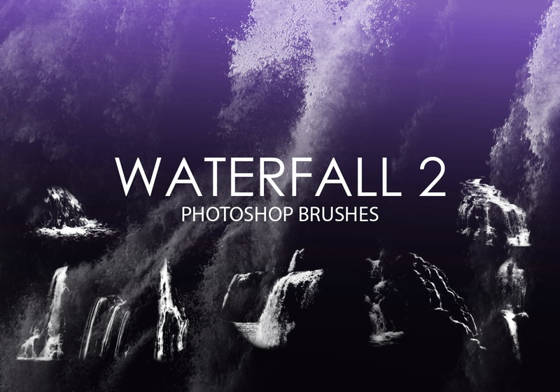 Free Waterfall Photoshop Brushes 2 Photoshop brush