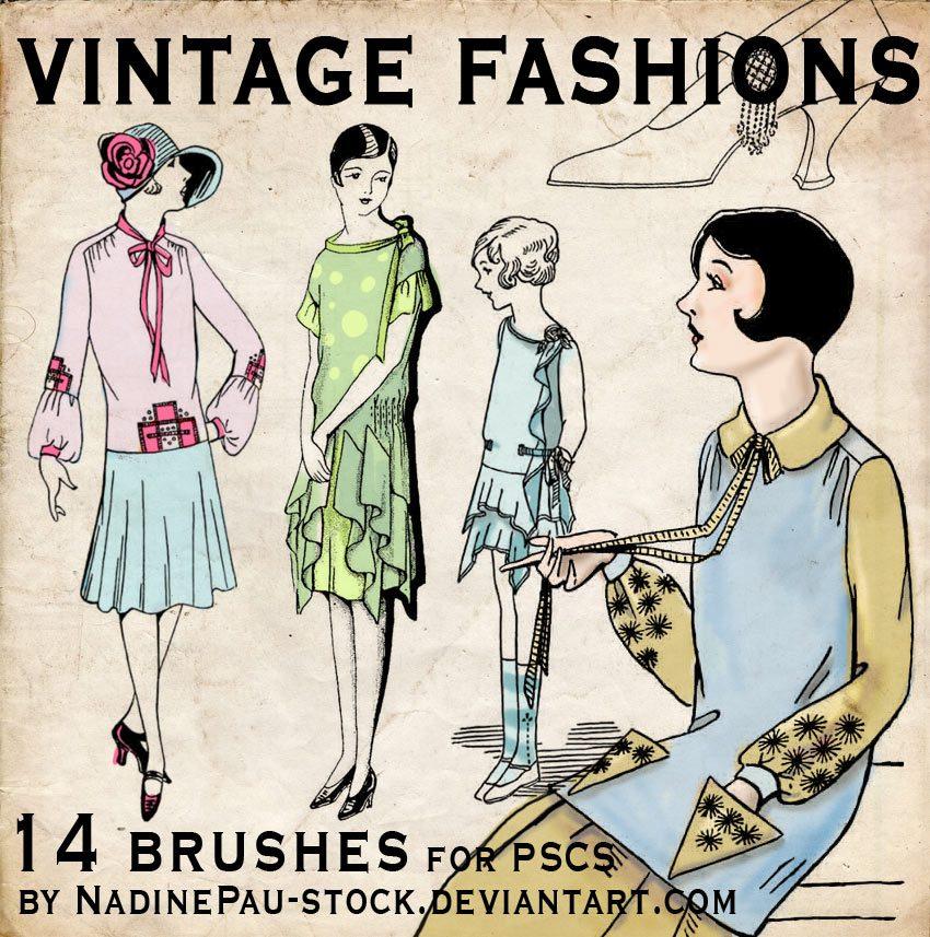 Vintage Fashions Photoshop brush