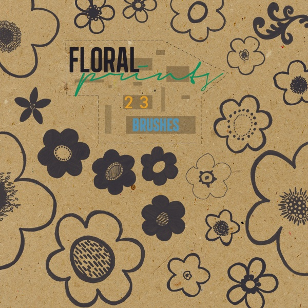 Floral Prints - Brushes Photoshop brush