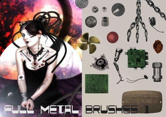 Full Metal Brush Pack Assemble 1 Photoshop brush