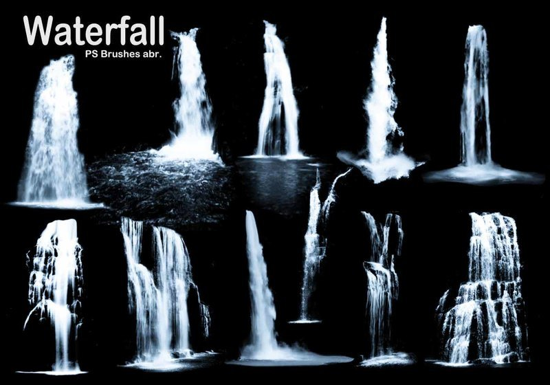 20 Waterfall PS Brushes abr. Vol.3 Photoshop brush