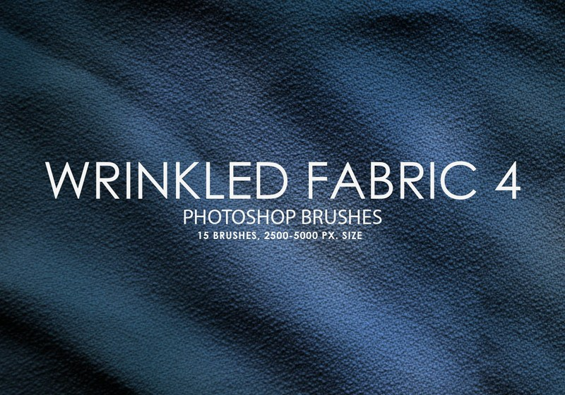 Free Wrinkled Fabric Photoshop Brushes 4 Photoshop brush