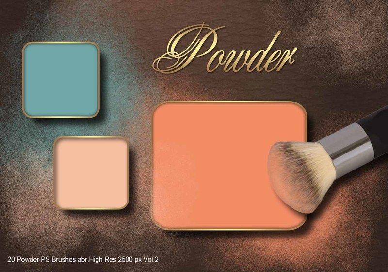 20 Powder PS Brushes.abr Vol.2 Photoshop brush
