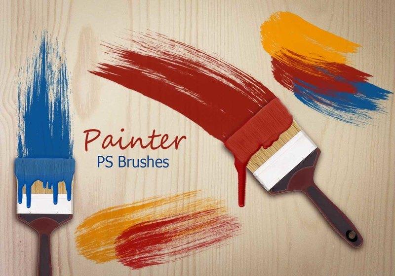 20 Painter PS Brushes abr.  Photoshop brush