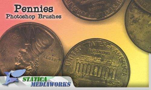 Pennies Photoshop brush