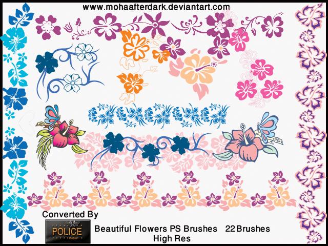 Beautiful Flowers Photoshop brush