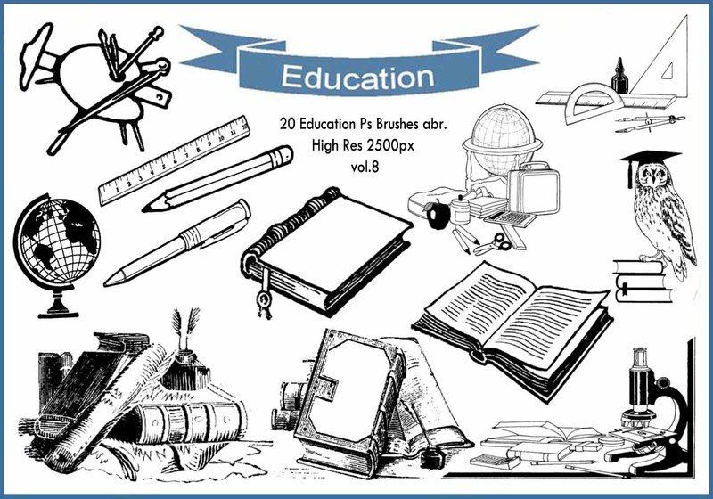 20 Education Ps Brushes abr. vol.8 Photoshop brush