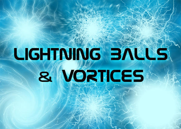 8 Lightning Ball Brushes & Vortices Photoshop brush