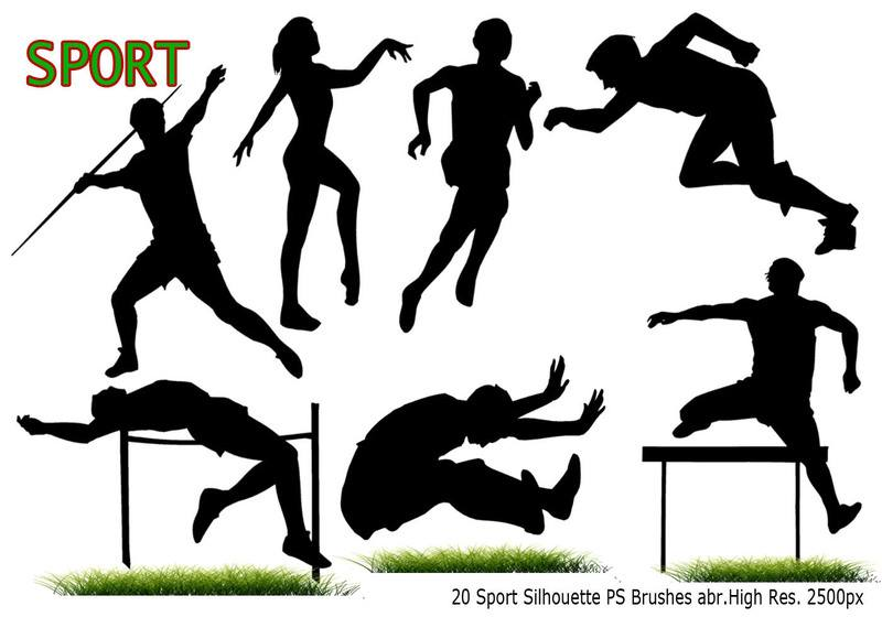 Sport Silhouette PS Brushes abr Photoshop brush