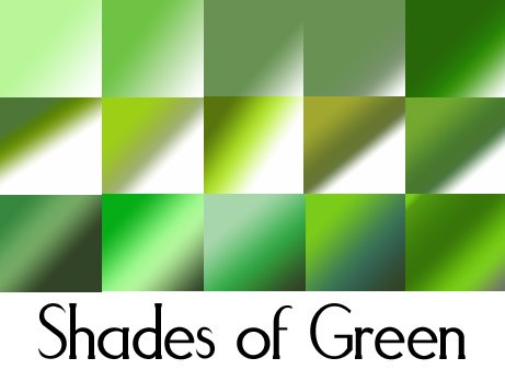 Shades of Green Photoshop brush