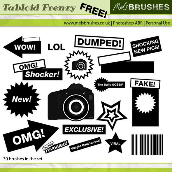 Tabloid Frenzy Photoshop brush