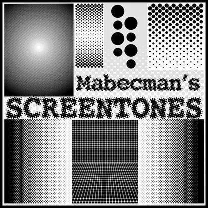 Mabecman's SCREENTONES Halftone Brushes Photoshop brush