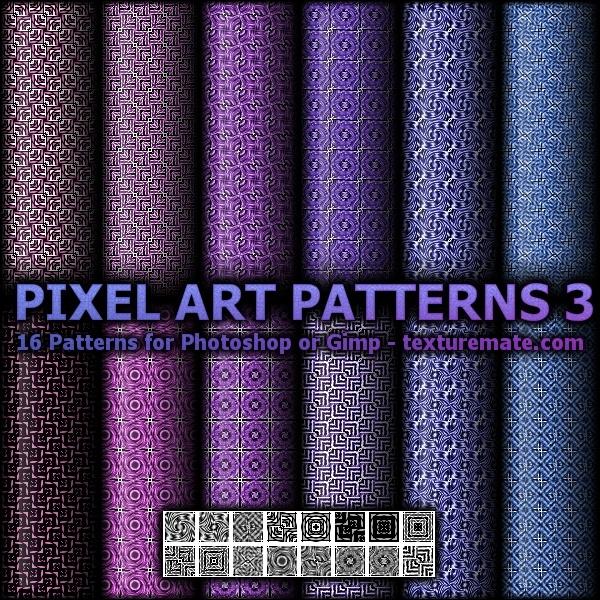 Pixel Art Patterns 3 Photoshop brush