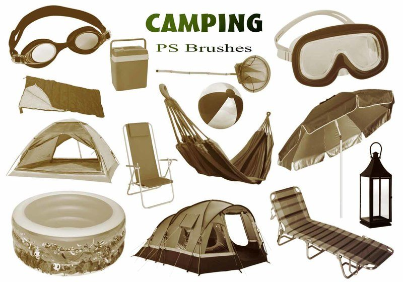 20 Camping PS Brushes abr. Photoshop brush