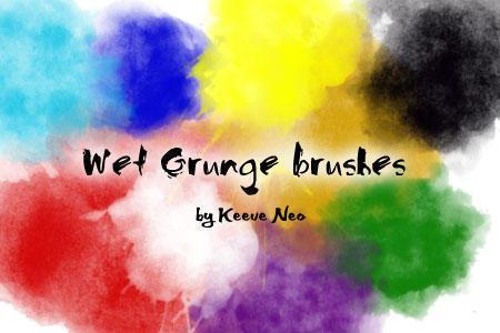 Wet Grungy Brushes Photoshop brush