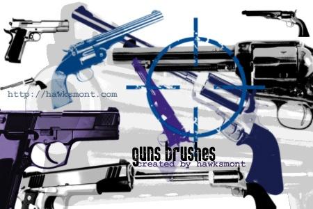 Guns Photoshop brush