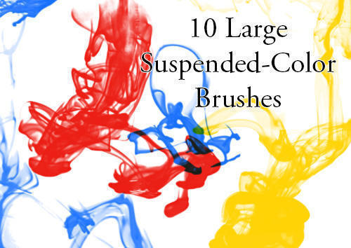 Suspended Color Ink Drop Brushes Photoshop brush