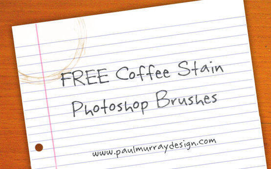 Grunge Coffee Cup Stains/Rings Photoshop brush
