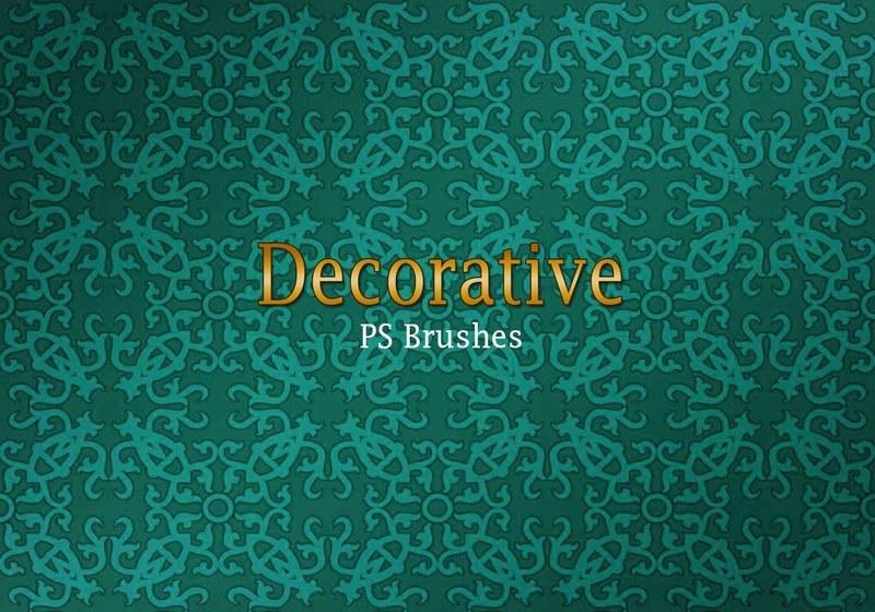 20 Decorative Tile PS Brushes abr. Vol.1 Photoshop brush