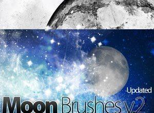 Moon, Stars, Sky Dust and More Photoshop brush
