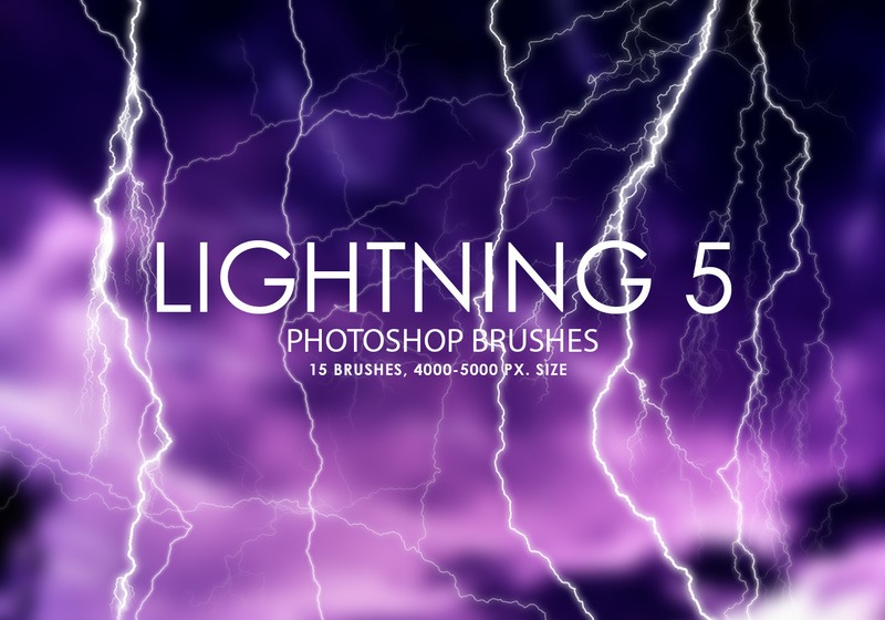 Free Lightning Photoshop Brushes 5 Photoshop brush