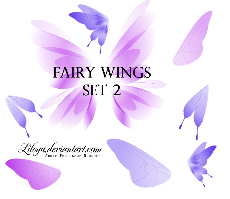Fairy Wings set 2 Photoshop brush