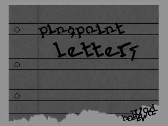 PingPoint Letters Brushes Photoshop brush