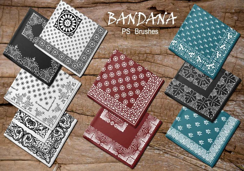20 Bandana PS Brushes.abr vol.2 Photoshop brush