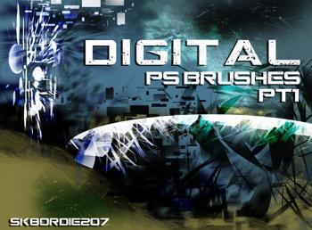 Digital Brush Set 1 Photoshop brush