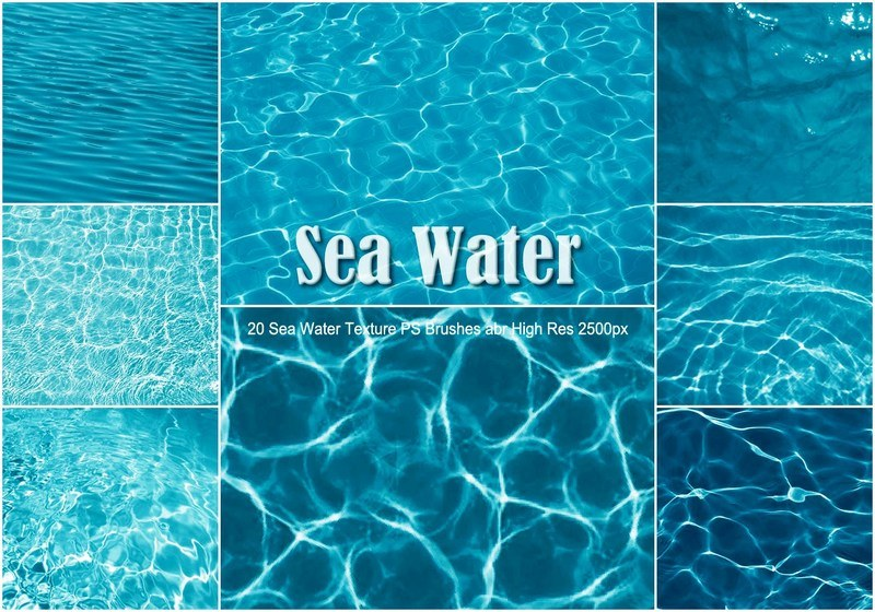 20 Sea Water Texture PS Brushes abr Photoshop brush
