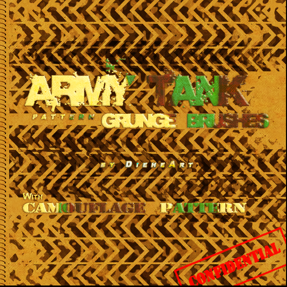 Army Tank Pattern Grunge Brush Photoshop brush
