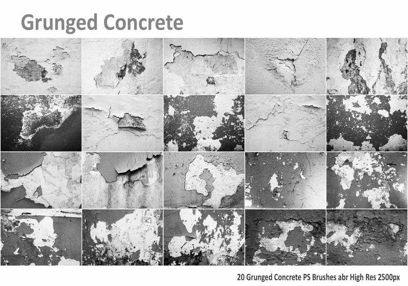 Grunged Concrete PS Brushes abr Photoshop brush