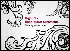 HighRes Hand-Drawn Ornaments 2 Photoshop brush