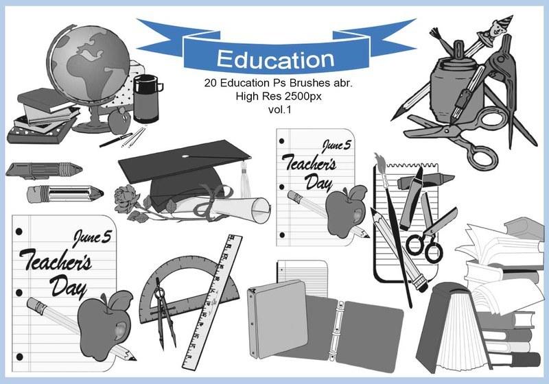 20 Education Ps Brushes abr. vol.1 Photoshop brush