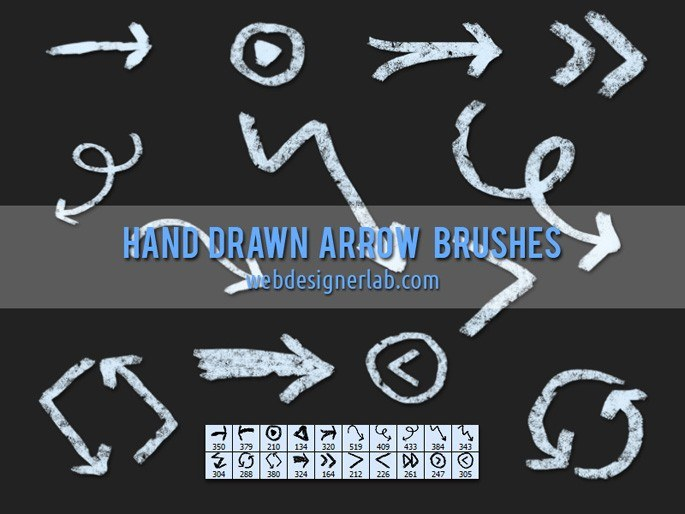 Grungy Hand Drawn Arrow Brushes Photoshop brush