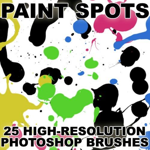 Paint Spots Photoshop brush